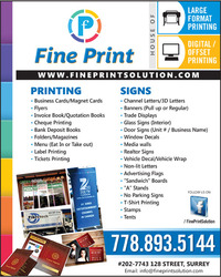 Fine Printers - Printing Services - Publishing, Local