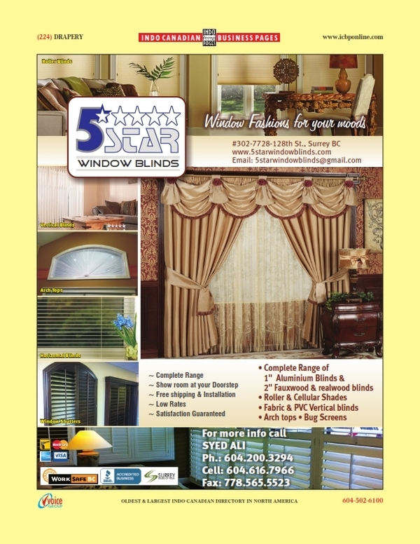 Canada blinds drapery window coverings find for 5 star windows